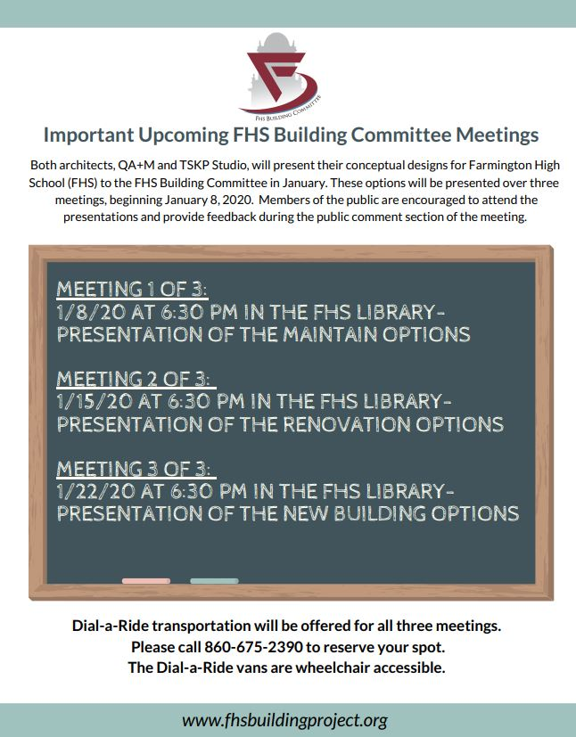 Important Dates for FHS Building Committee